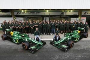 La scuderia Caterham al Gran Premio di F1