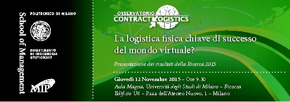 Agenda Convegno Contract Logistics 2015