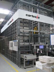 Cartesio è un sistema dedicato all'immagazzinamento di oggetti di piccole dimensioni sottoposti ad una considerevole attività di prelievo o inserimento