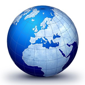 World globe illustration.