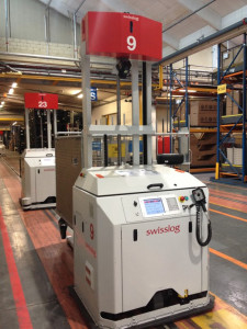 I veicoli Swisslog sono in grado di trasportare a qualsiasi distanza beni differenti per peso, forma e volume ed il loro utilizzo è sicuro anche in aree dove sono presenti operatori