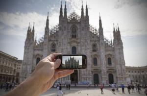 Fotografare il Duomo di Milano con uno smartphone