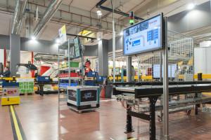L'area dimostrativa al Salone Logistica, nell'edizione MECSPE del marzo 2015