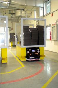 Nel 2012 è iniziata la collaborazione con un'azienda di pelletteria di lusso, attraverso un primo progetto AGV, consistente in una unità bidirezionale per il trasporto di prodotti finiti da un'area produttiva al magazzino spedizioni, e nel 2014 si è proceduto con l`impiantizzazione di 2 ulteriori AGV speciali per il trasporto di kit con semilavorati attarverso diverse linee produttive.