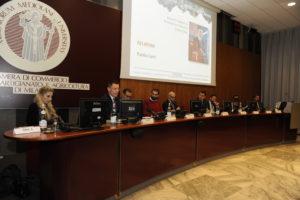 Il tavolo dei relatori dell'evento