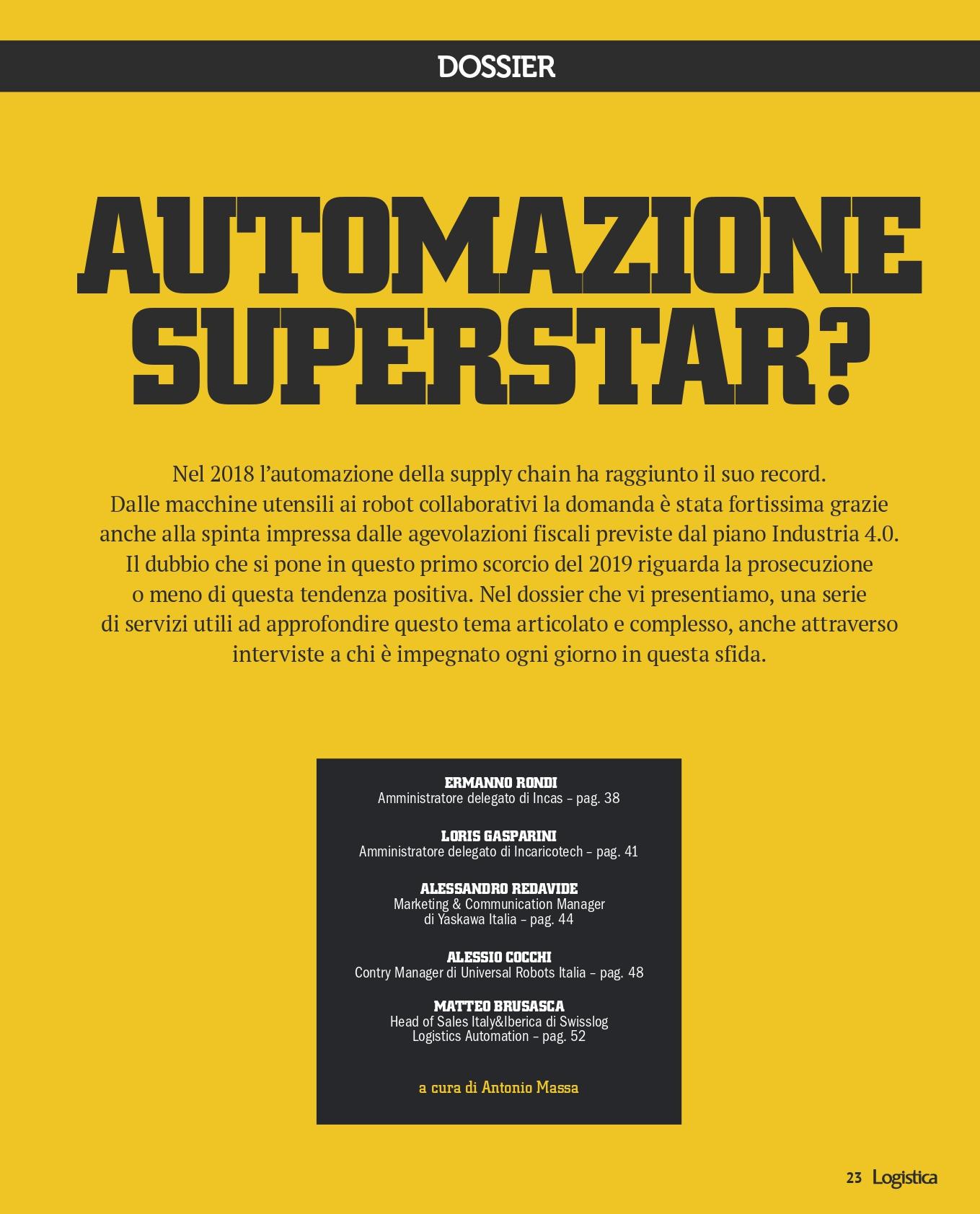 Dossier Automazione superstar?